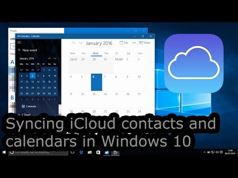 Syncing iCloud contacts and calendars in Windows 10