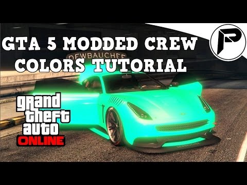 GTA 5 - Online Modded Crew Color Tutorial, Lime Green