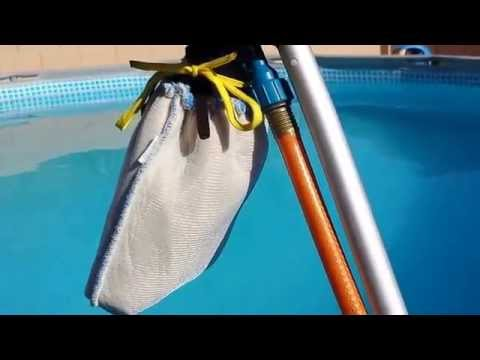 How to clean the dirt off the bottom of Intex pool