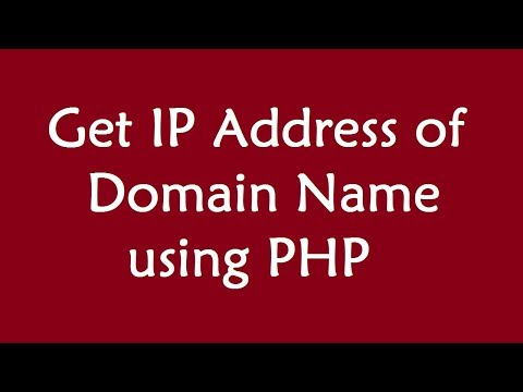 Get IP Address of Domain Name using PHP