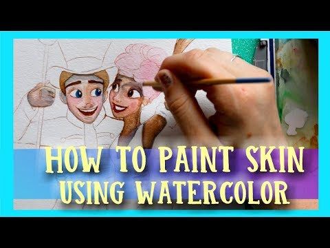 How to Paint SKIN Using WATERCOLOR - @dramaticparrot