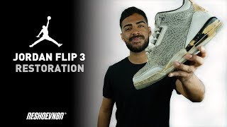 7423bacb3 Vick Almighty Restores Air Jordan Flip 3 With Reshoevn8r!