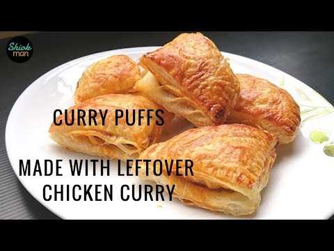 Shiokman How to make Curry Puffs from leftover Chicken Curry and frozen Roti Paratha (Canai)