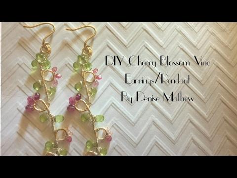DIY Cherry Blossom Branch Earrings/Pendant by Denise Mathew