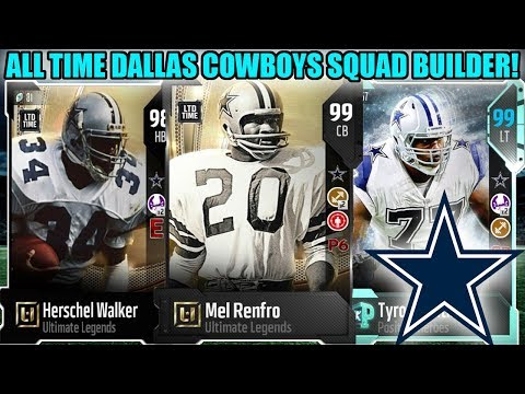 ALL TIME DALLAS COWBOYS TEAM! ALL TIME COWBOYS SQUAD BUILDER! | MADDEN 18 ULTIMATE TEAM