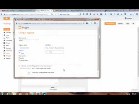 HOW TO CREATE NEW PAGES AND TABS IN BLOGGER OR BLOGSPOT