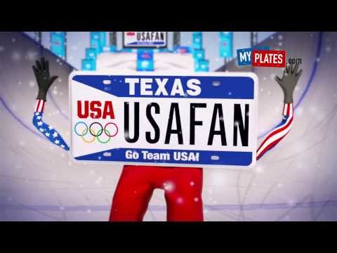 U.S. Olympic License Plates Come to Texas - Snowboarder