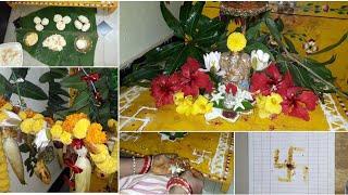 Vinayaka chavithi Pooja vidhanam 2018 || my home ganapati puja ||palavelli decoration