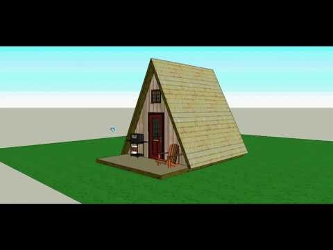 A Frame 14x14 Cabin by Solarcabin