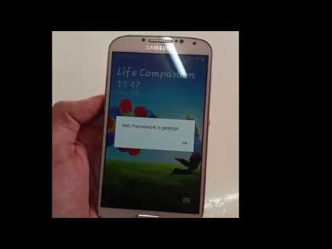 How to fix (  IMS Framwork is stop working 2015  ) samsung galaxy 4s
