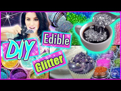 DIY Edible Glitter! | Eat Glitter For Breakfast! | Delicious Glitter!