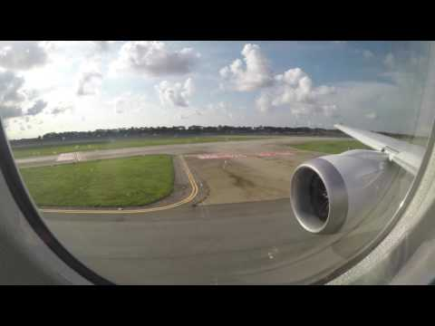 United Airlines Boeing 787-9 departs SIN as UA2 - Inaugural Flight