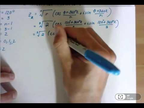 Finding the nth roots of a complex number in polar form