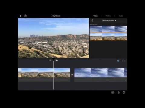 How to make an iMovie using an iPad