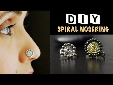 Spiral Nosering | How to make Nosering | 5 minute DIY | VHMJ