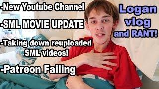 bad news: SML got a youtube strike (community guideline)