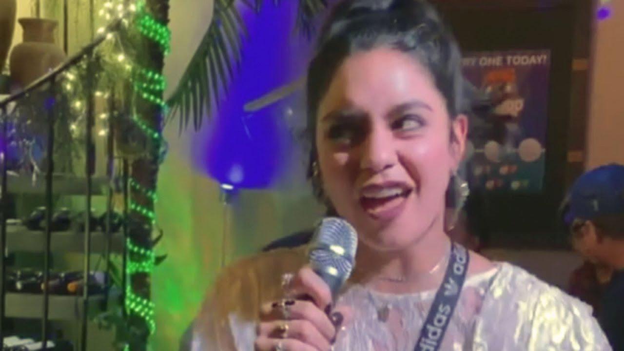 Vanessa Hudgens Sings a 'High School Musical' Song at Karaoke