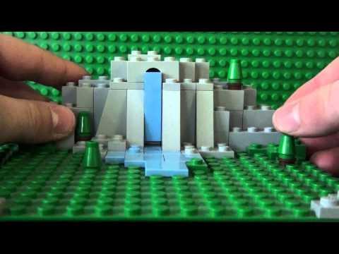 Mini Lego Waterfall MOC (My Own Creation)