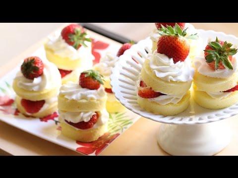 Strawberry Shortcake (Banh Bong Lan Dau Tay) Recipe