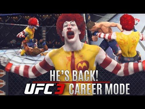 Ronald McDonald Has Returned To The UFC! Still Dangerous! EA Sports UFC 3 Career Mode Gameplay