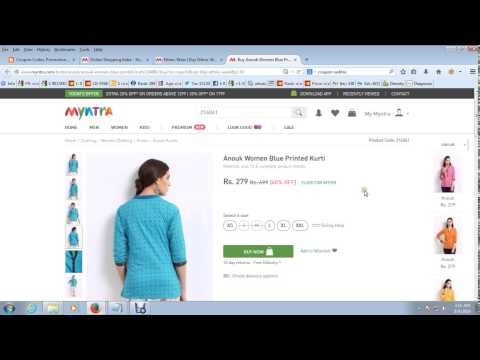 Myntra Discount Coupons - 60% Discount on Ethnic Store
