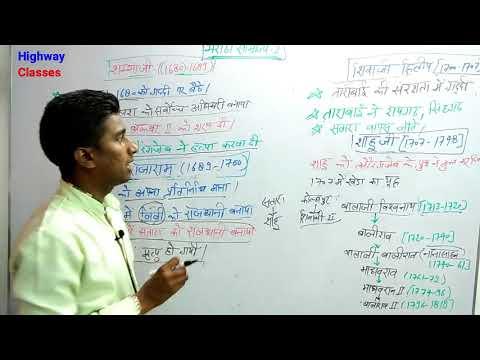 मराठा साम्राज्य भाग -2 UP Police and RRB Railway Government exam