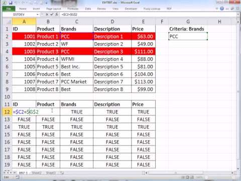 Excel Magic Trick 897 Conditional Format Row If Brand Field Contains Particular Brand (Partial Text)
