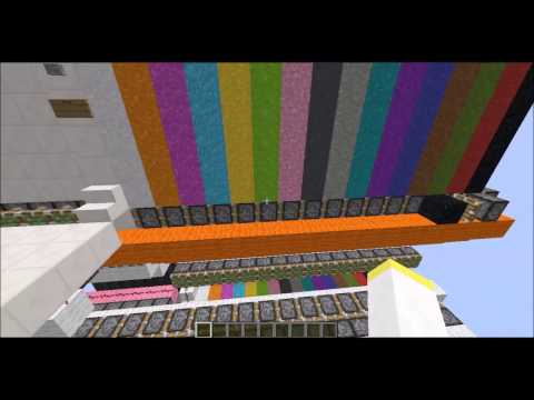 100% Redstone printer with automatic refilling system (no command blocks)