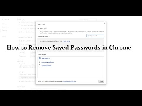 How to Delete Saved Passwords in Google Chrome (Facebook, Gmail, etc.)
