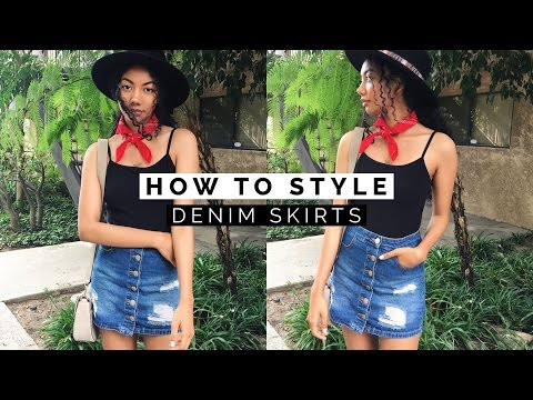 👗 HOW TO STYLE #1: DENIM SKIRTS + SPRING LOOKBOOK