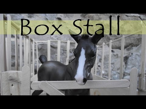 How To Make Cheap and Easy Breyer Box Stalls/Model Horse Stall