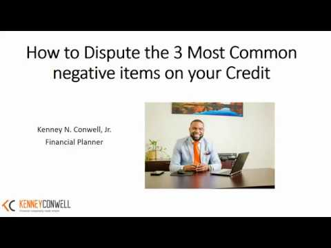 How To Remove Negative Items From Your Credit Report.