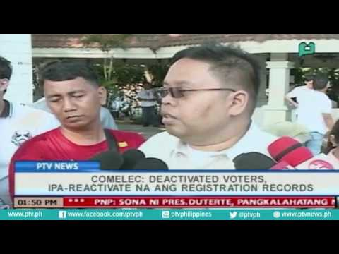 [PTVNews] COMELEC: Deactivated voters, ipa-reactivate na ang registration records [07|26|16]