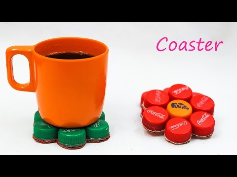 Best Diy Plastic bottle cap coaster