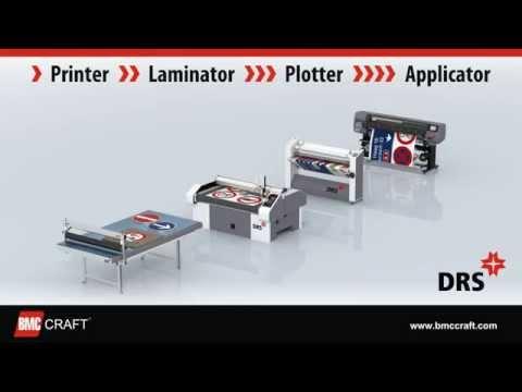 DRS 60 - (II gen.) Digital Road Sign Fabrication System (Printer, Laminator, Plotter, Applicator)