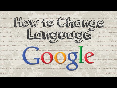 How to change Google language settings to english