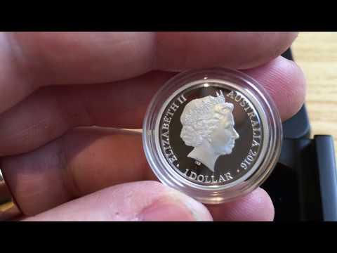 Silver Kangaroo at Sunset Coin