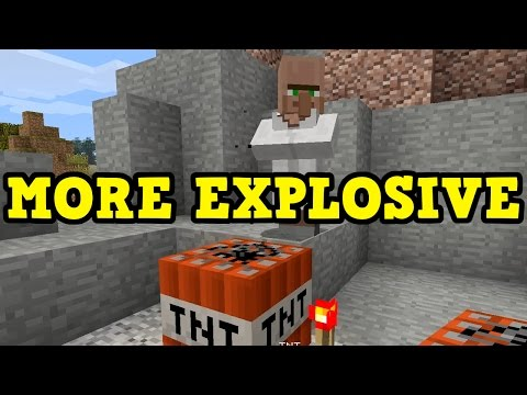 Minecraft - How Do You Make TNT MORE EXPLOSIVE?