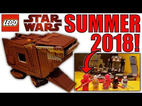 LEGO STAR WARS SUMMER 2018 SETS! Snoke's Throne Room, Sandcrawler, X-Wing, & Anakin's Starfighter!