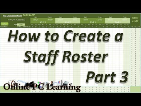 Roster - How to Create a Roster Template Part3 - Roster tutorial