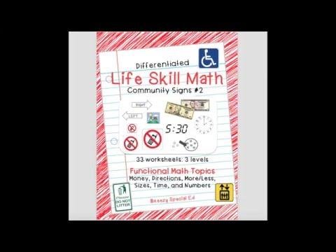 Math Life Skills: Community Signs 2