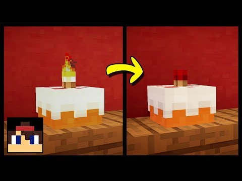 ✔ Minecraft: How To Make A Working Birthday Cake | Working Candles (No Mods Or Addons!)