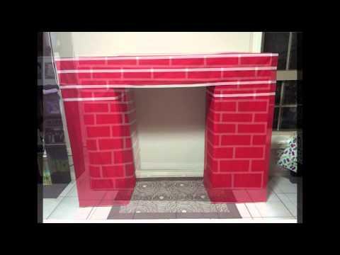 Homemade Christmas DIY fake fireplace