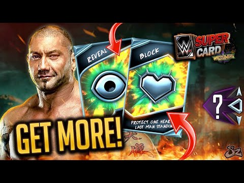 BATISTA LAST MAN STANDING!! HOW TO GET MORE REVEALS AND BLOCKS! | WWE SuperCard