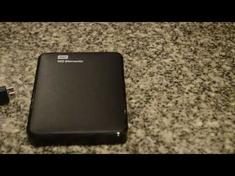 WD Elements 1TB Hard Drive Unboxing 2014
