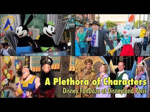 A Plethora of Disney Characters Meet Fans during Disney FanDaze at Disneyland Paris