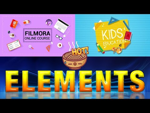 How to Use Filmora Motion Elements Advance Video Editing | How To Add Unique Element On Video