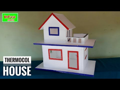 DIY- Thermocol House   Thermocol Craft For School Project   Best Out Of Waste Thermocol Craft Idea