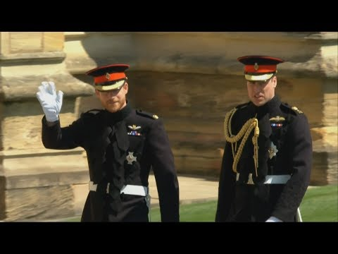 Royal Wedding: Prince Harry and Best Man Prince William arrive at St.George's Chapel