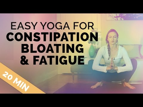 Yoga for Constipation Relief, Cramps and Fatigue | 20 Min Yoga Sequence